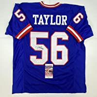 $149 » Autographed/Signed Lawrence Taylor HOF 99 New York Blue Football Jersey JSA COA