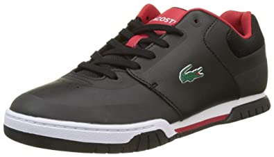 Lacoste Sport Indiana Evo 317 1, Baskets Basses Homme, Noir (Blk/Red