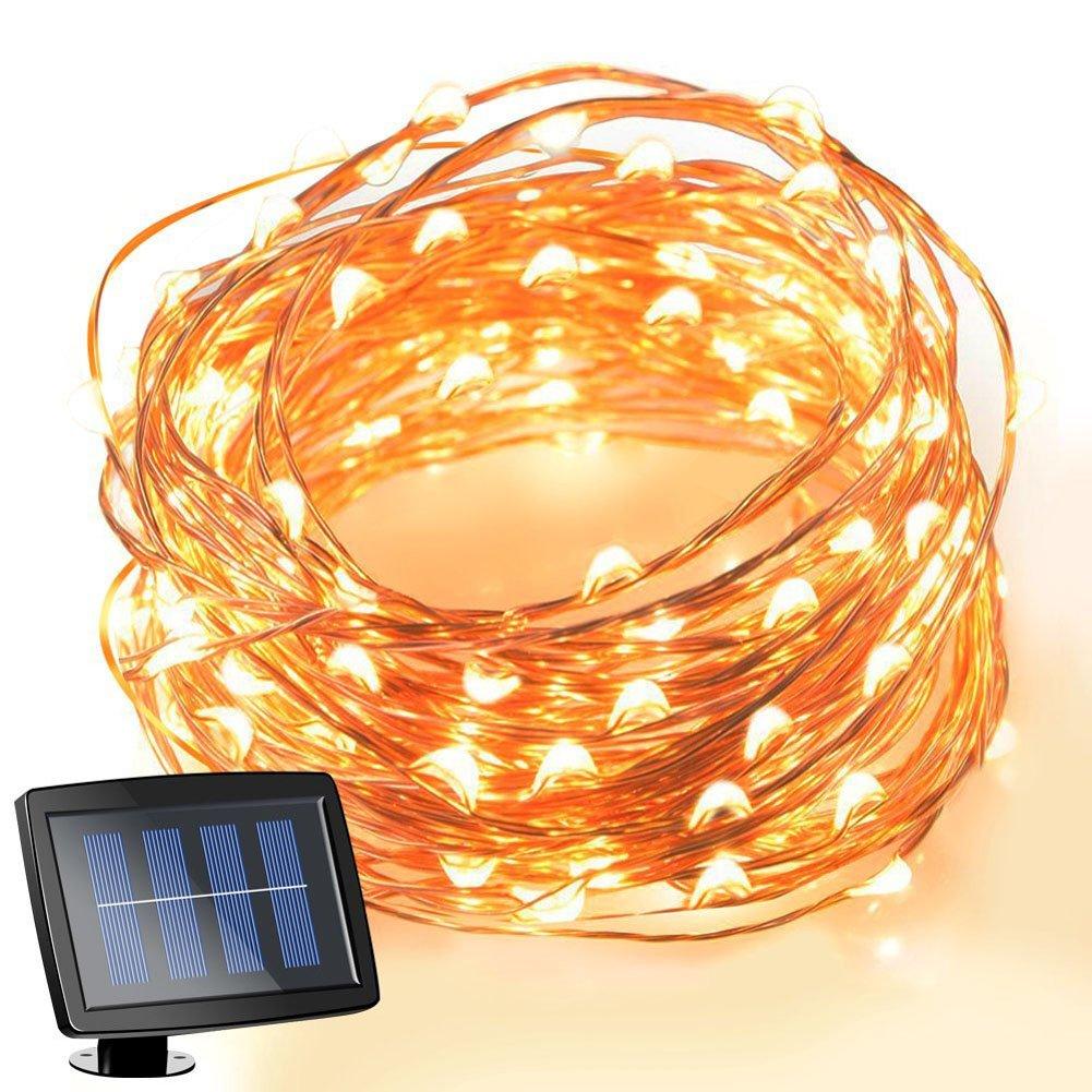 Luces navidad solares luces navidad con pilas luces - Luces exteriores solares ...