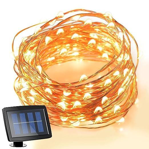 7 opinioni per TurnRaise 15M 150 Lucine LED, IP65 Impermeabile Led Filo di Rame, Bianco Caldo