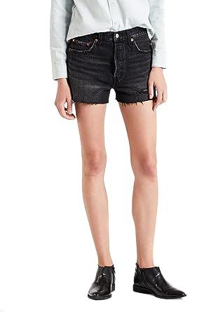 sehr bequem neuartiger Stil langlebig im einsatz Levis Damen Shorts 501 High Rise 56327-0010 Schwarz: Amazon ...