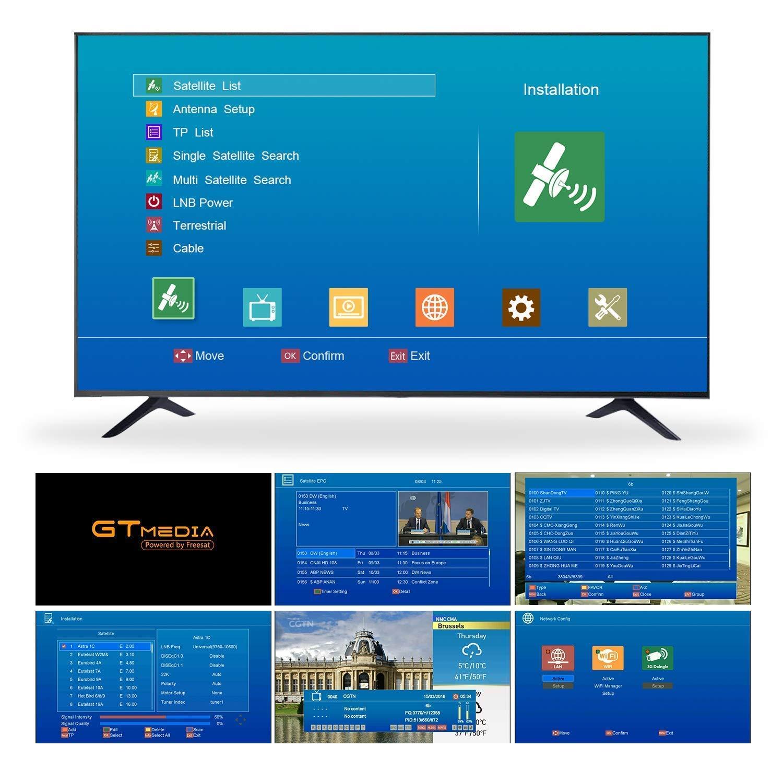 GT MEDIA V8 NOVA DVB-S2 HD 1080P TV Satellite Receiver Free to Air Sat  Decoder Digital FTA Receptor Built-in WiFi Support CCCAM IPTV YouTube PVR  Ready