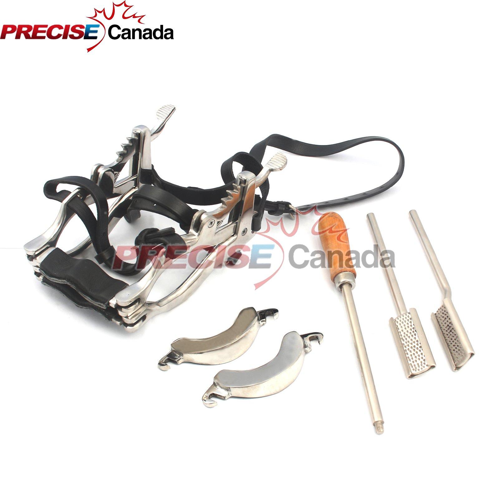 PRECISE CANADA: EQUINE DENTAL FLOAT-RASP HORSE SPECULUM GAG LEATHER