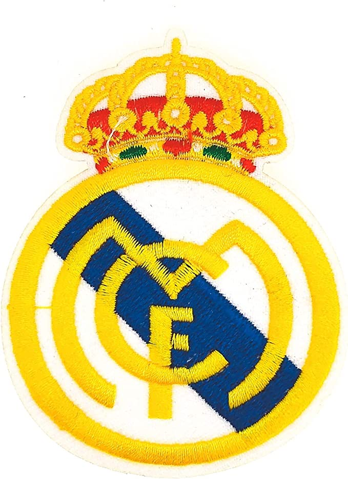 Parche Bordado Escudo Real Madrid Termoadhesivo 8cm: Amazon.es: Hogar