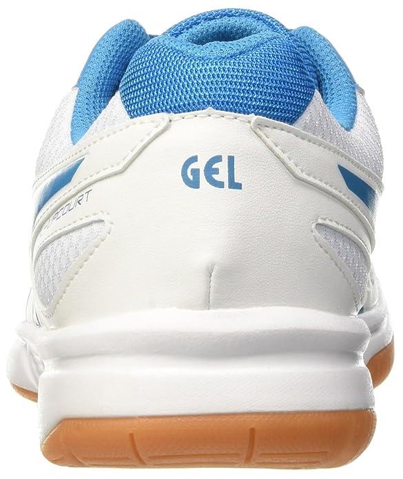 Asics Herren Gel-Upcourt Volleyballschuhe, Mehrfarbig (White/Blue Jewel/White), 44.5 EU