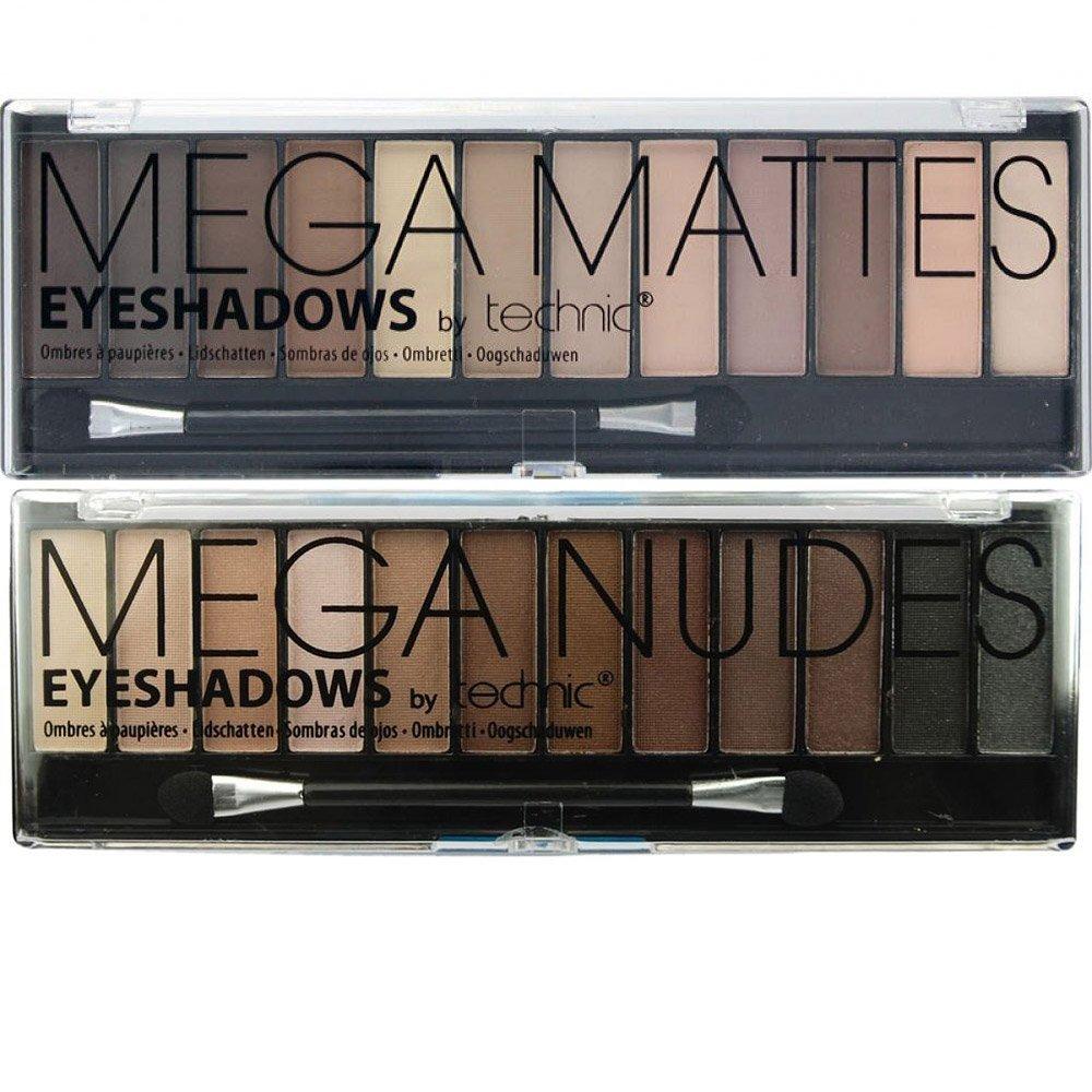 Technic Mega Nudes & Mega Matte Nudes Eyeshadow Palette Set