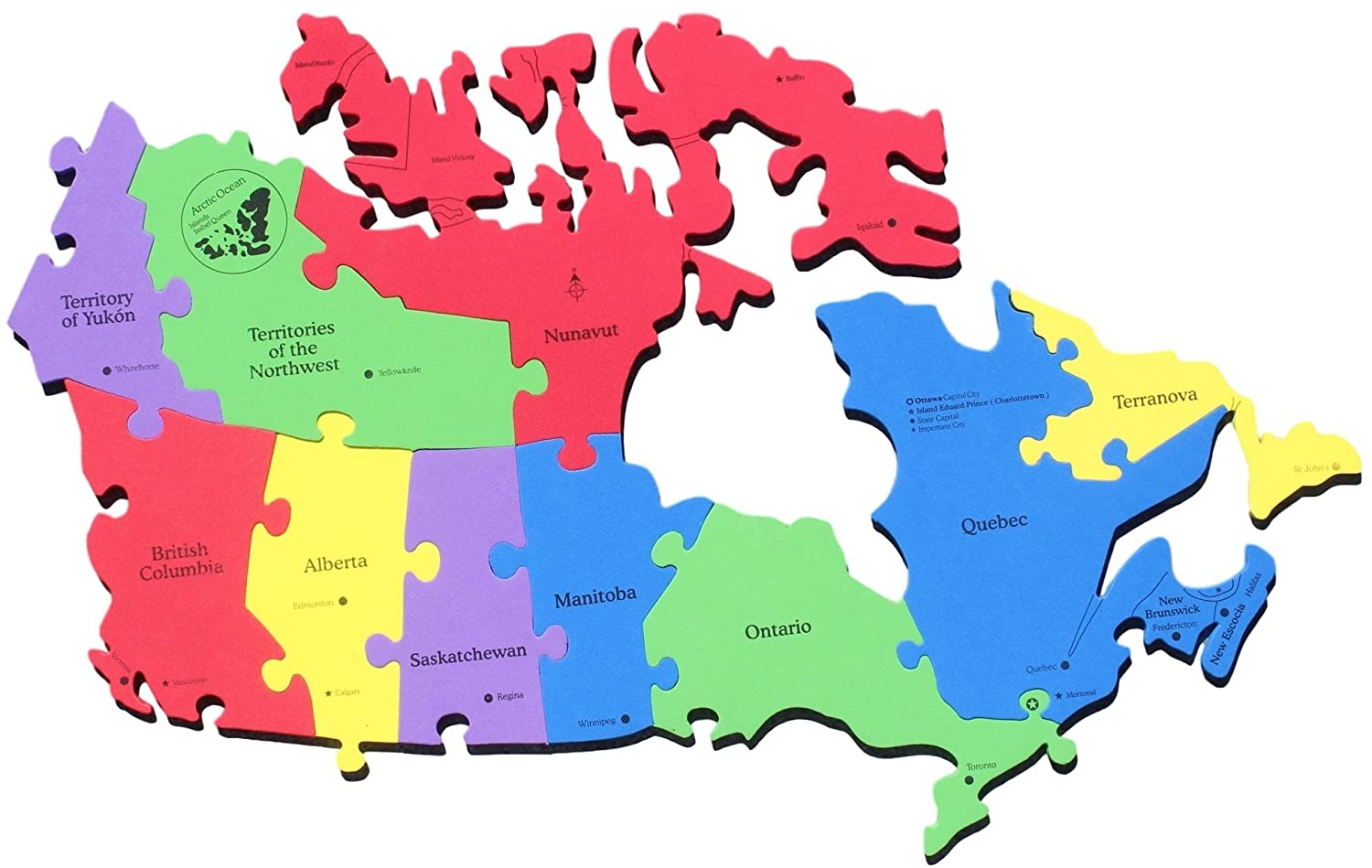 French Map Of Canada With Provinces And Capitals.Canada Map Puzzle Canada Provinces And Territories Capital Cities