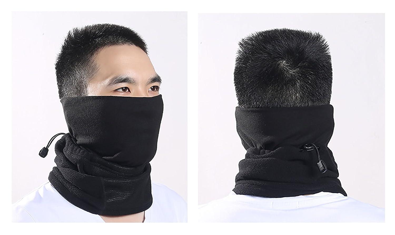 82493acba14 Tour de Cou Masque Echarpe pour Motards Unisexe Hiver Protection Nez  Bouches Oreilles Cou Chaud Respirant Léger Taille Réglable Masque en  Polaire Contre ...