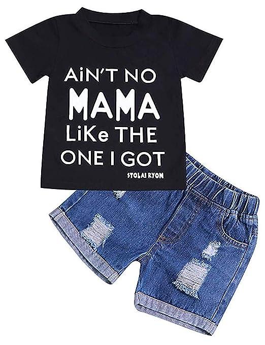 Amazon.com: Conjunto de ropa de manga corta y pantalones ...