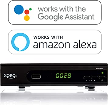 MAS Elektronik hrs 8660Smart Xoro DVB-S2Receptor (Alexa, LAN, USB PVR Ready, mmp) Negro