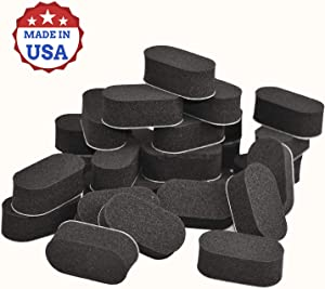 70 Pack Anti Skid Pad and Bump for Drones, Robots Vacuum Cleaners, RC Toys, Shock Absorbing, Weather and Water Resistant Rubber, NOT EVA Foam,Made in USA (Black)