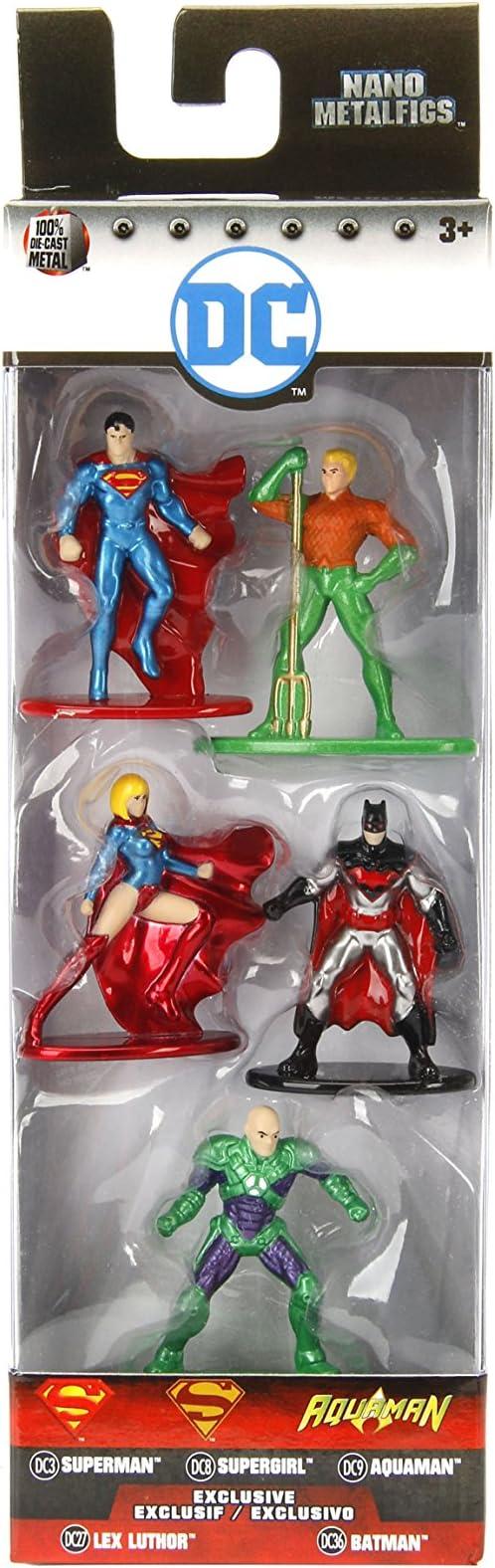Jada - Nano Metalfigs DC Comics 5 Pack: Pack 2 (Superman Rebirth ...