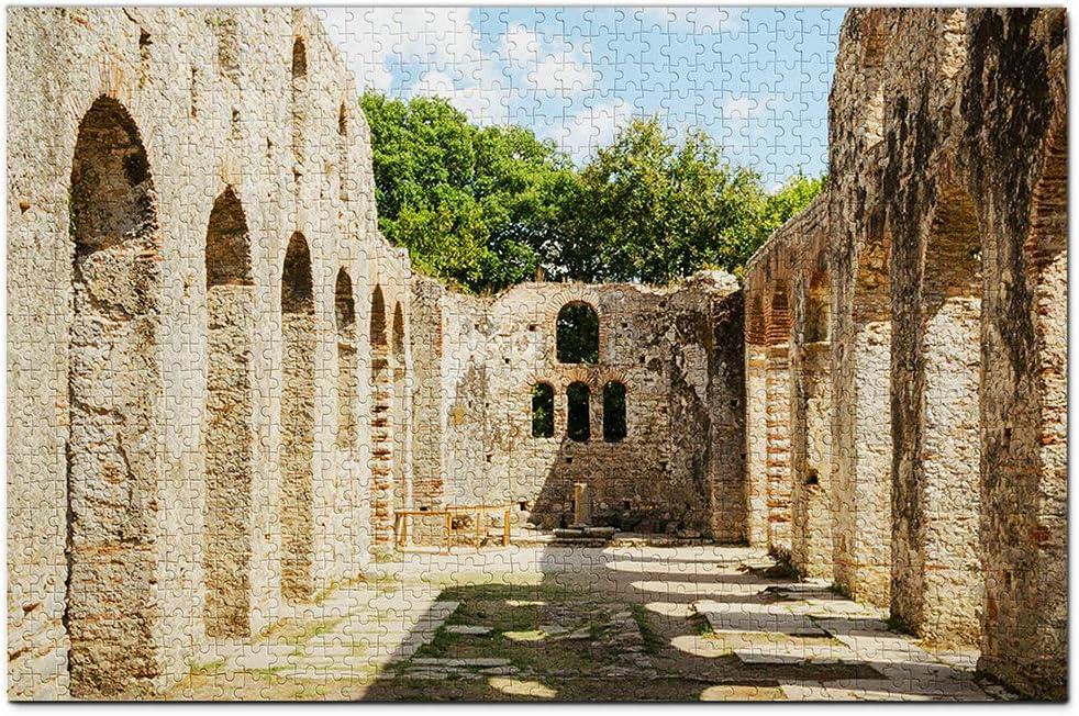 Parque Nacional Albania Butrint Puzzle 1000 Piezas para Adultos Familia Rompecabezas Recuerdo Turismo Regalo