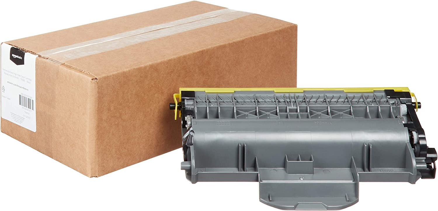 AmazonBasics Remanufactured High-Yield Toner Cartridge, Replacement for Brother TN360 - Black