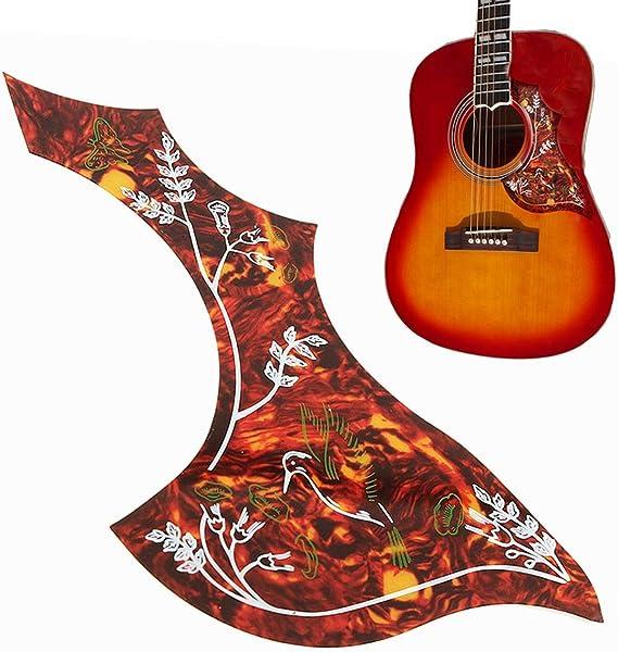 2er Set Gitarre Schutzplatte Pickguard Schlagschutz Schlagbrett für Akustik