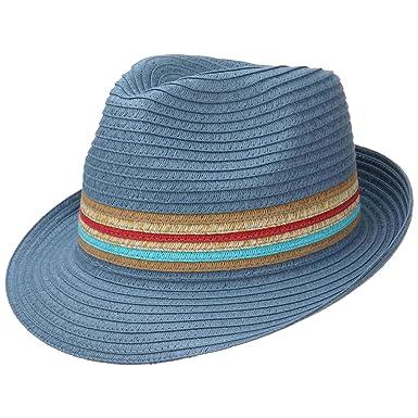cd856f3576c Lipodo Uni Stripes Straw Trilby Hat Sun Beach  Amazon.co.uk  Clothing