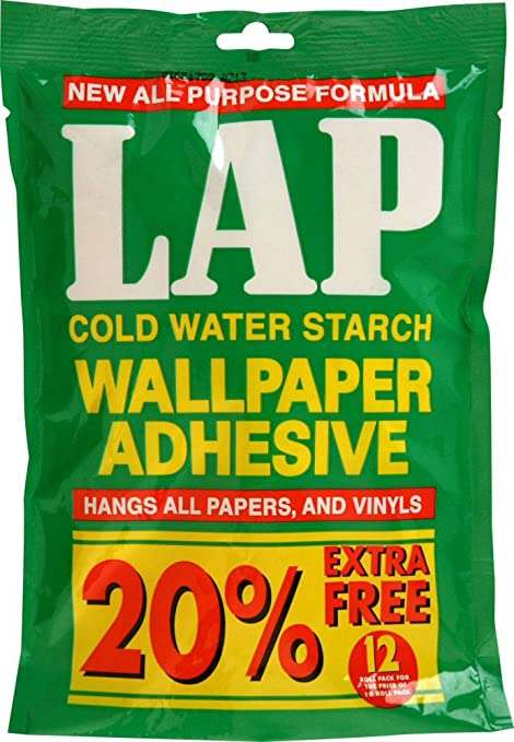 Polycell Lap Cold Water Starch Wallpaper Adhesive 10roll 20