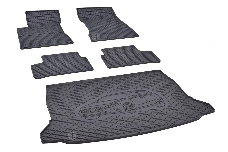 Su misura per bagagliaio e tappetini in gomma adatti per Mercedes Classe A W177 a partire dal 2019.