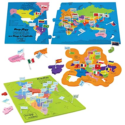 Buy imagimake india and world map with capitals and countries flags imagimake india and world map with capitals and countries flags educational toys mapology combo for boys gumiabroncs Image collections