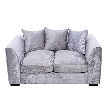 Tuff Concepts Modern Design Silver Corner Group Sofa Set Right And Left  Living Room Furniture (