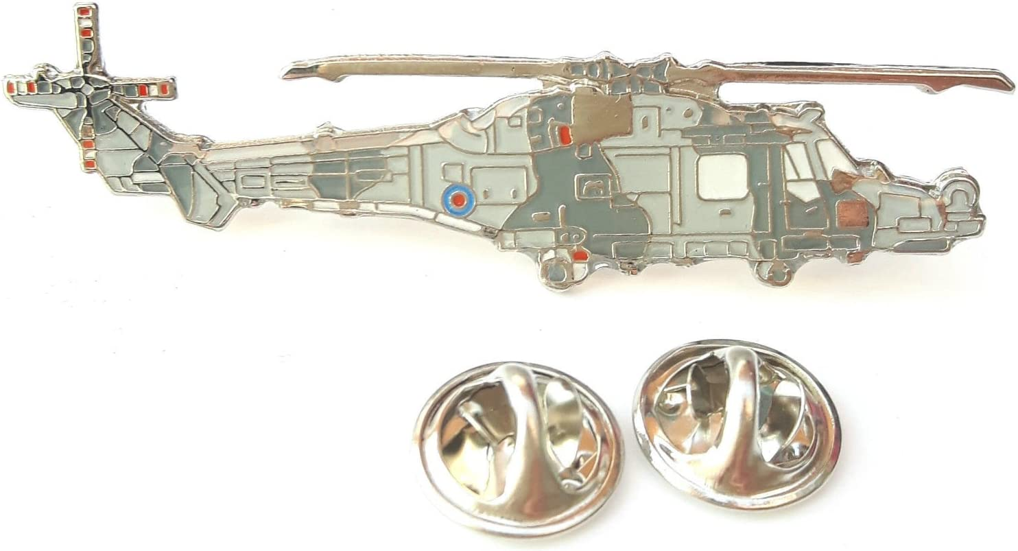 Wildcat Helicopter Side View Enamel Lapel Pin Badge