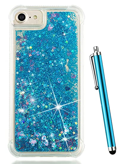 the best attitude 1b323 1ac33 iPhone 7 Glitter Case, iPhone 8 Case, iPhone 6S Case, CAIYUNL Liquid  Floating Bling Sparkle Quicksand Clear Slim TPU Protective Bumper Cases  Luxury ...