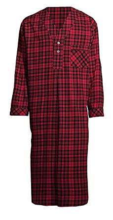 Amazon.com  Stafford Men s Flannel Nightshirt  Clothing 9e91dc279