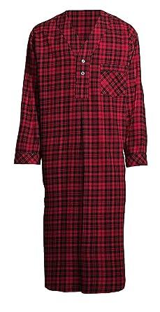 Amazon.com  Stafford Men s Flannel Nightshirt  Clothing 3603558c4