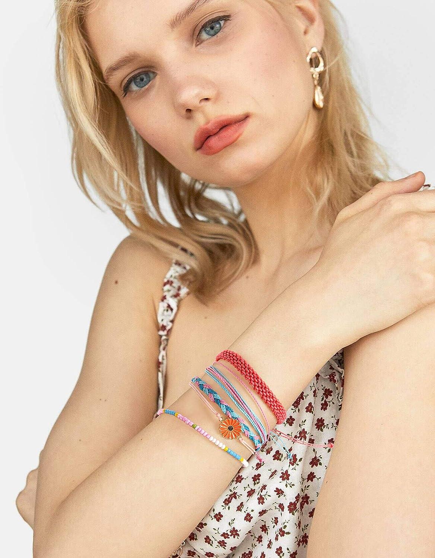 Lorfancy VSCO Sunflower Bracelets for Girls Women Kids Jewelry Friendship Bracelets Party Favors for Girls Stretch Braided Summer Sunflower Woven Bracelets VSCO Stuff for Teen Girl
