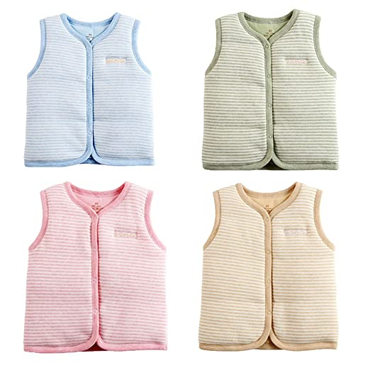 d5a10bf2e Amazon.com  Monvecle Baby Cotton Warm Vests Unisex Infant to Toddler ...