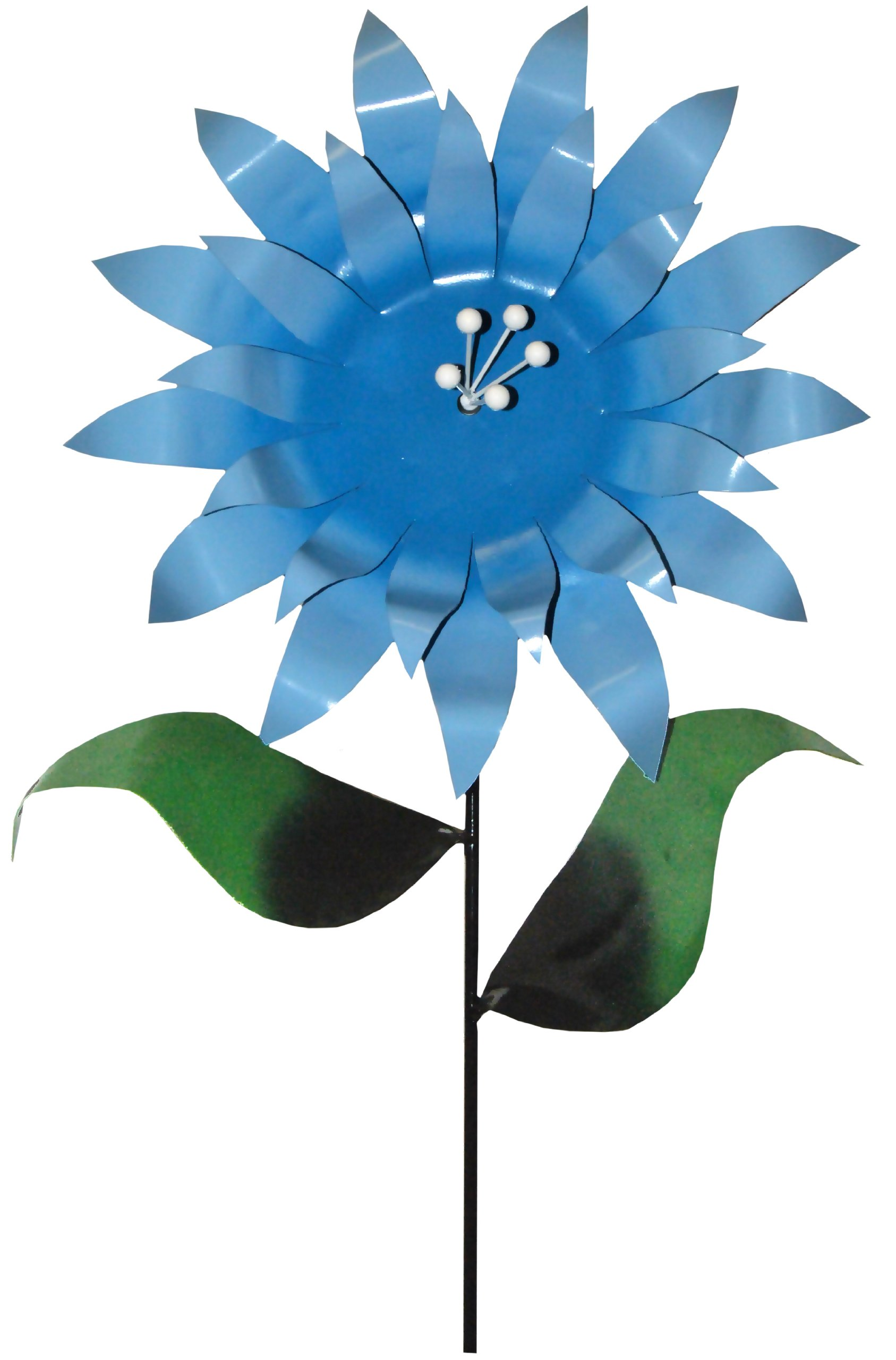 Steven Cooper Metalsmith AFLWR-04-XL Artificial Garden Flower on Footed Stake, 6-Feet, Light Blue by Steven Cooper Metalsmith
