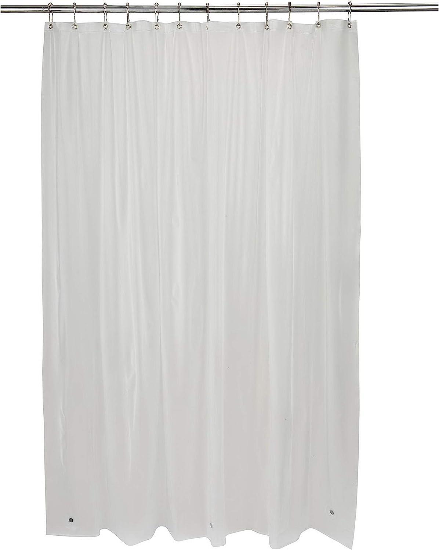 "x 72/"" 3 Magnet Hem Bath Bliss Premium Hotel Weight Shower Curtain Liner Beige 12 Metal Eyelets Mildew Resistant"