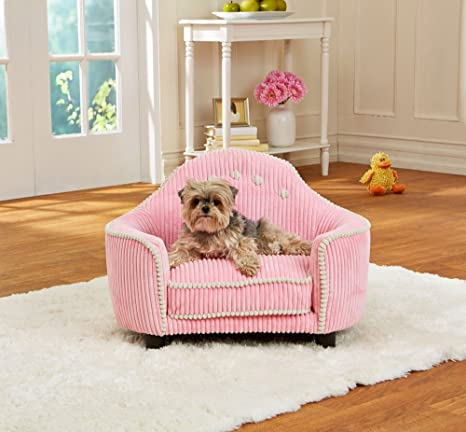 Un sofá para perros muy mono - Cama para perros Princesse con bolsa para almacenamiento y tapizado ...