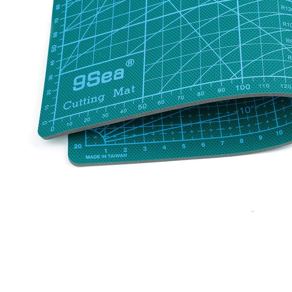 22cm ShineBear PVC Cutting Mat A4 Durable Self-healing Cut Pad Patchwork Tools Handmade Diy Accessory Cutting Plate Dark Green 30