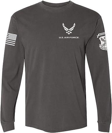 BUNKER 27 - Camiseta de Manga Larga con Logotipo Oficial de la Fuerza Aérea de los Estados Unidos - Gris - X-Large: Amazon.es: Ropa y accesorios
