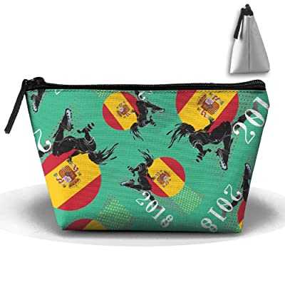 2018 Play Football Spain Unisex Cosmetic Bags Handbag Wrist Bags Clutch Bags Cell Phone Bags Purses
