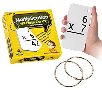 photograph about Printable Multiplication Flash Cards 0-12 known as Star Directly Training Multiplication Flash Playing cards, 0-12 (All Data, 169 Playing cards) with 2 Rings