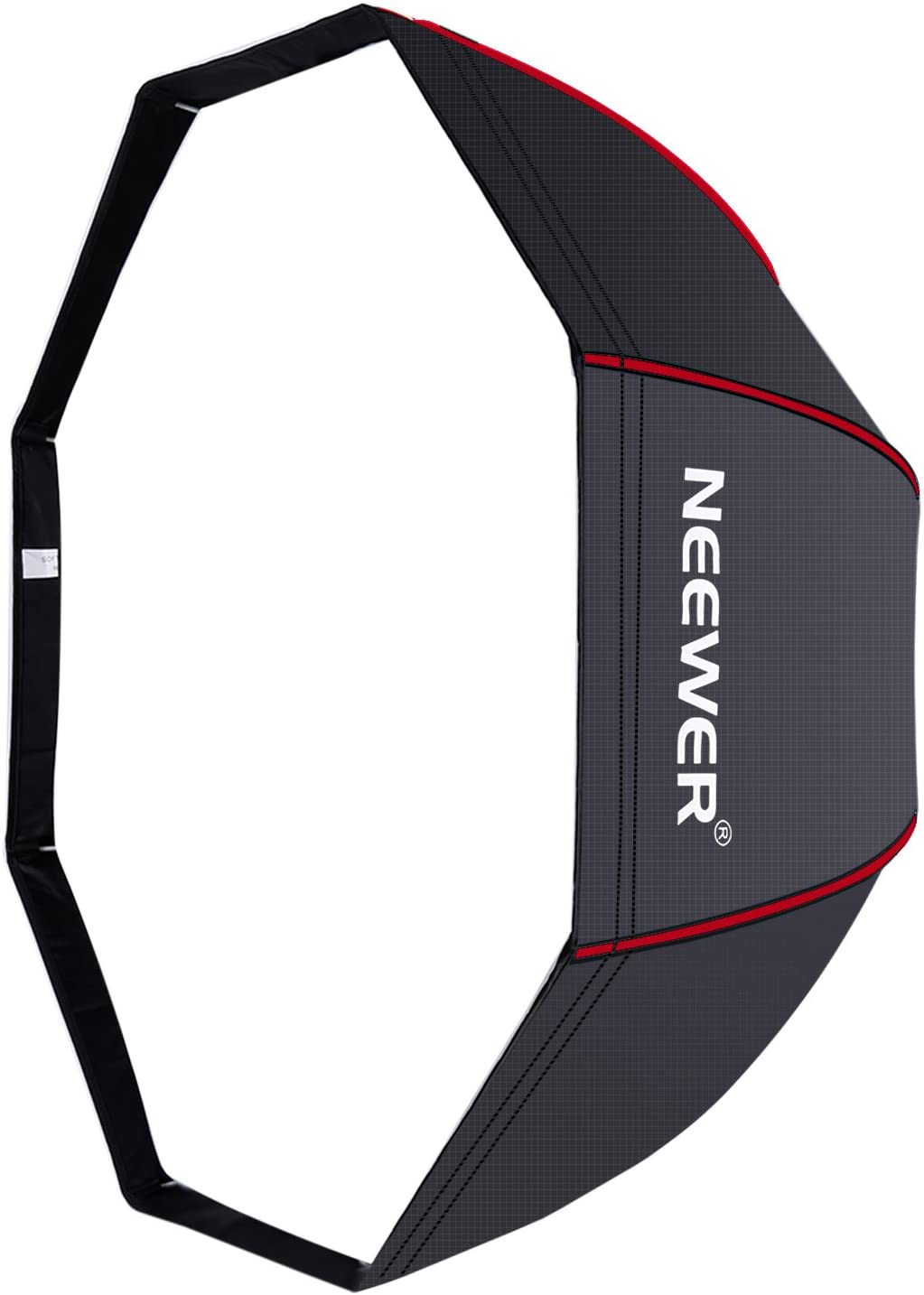 Neewer 47 inches/120 centimeters Octagonal Softbox Umbrella with Red Edges and Carrying Bag for Portrait or Product Photography, Suitable for Canon Nikon Sony Speedlite, Studio Flash (Black/Red)