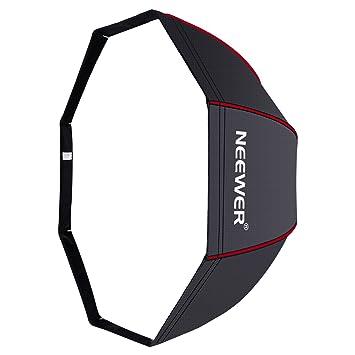 Neewer 120cm Portable Octagonal Paraguas Softbox con Borde Rojo Bolsa Transporte para Retrato Fotografía Producto,