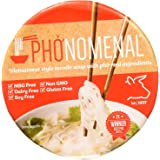 Pho'nomenal Bowl Instant Pho Noodles Gluten Free Low Sodium Vietnamese Beef Soup, No MSG, Authentic Family Recipe, Non GMO, N