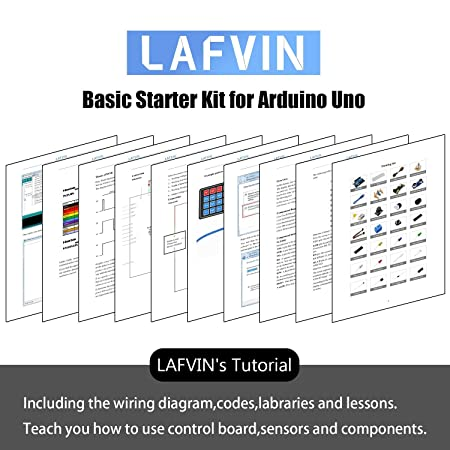 Breadboard Lafvin The Basic Starter Kit For Arduino With Uno R3 Led Resistor,jumper Wires And Power Supply