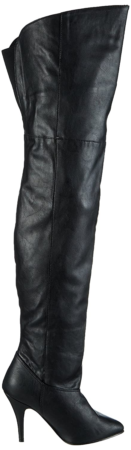Women's Legend-8868 Fold Over Black Leather Boot