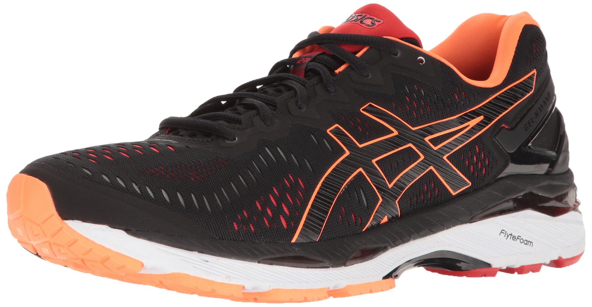 ASICS Men's Gel-Kayano 23 Running Shoe, Black/Hot