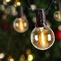 Avoalre LED Kerstverlichting buiten G40 Kerstverlichting, Super helder IP65 waterdicht warm wit LED licht,10M…