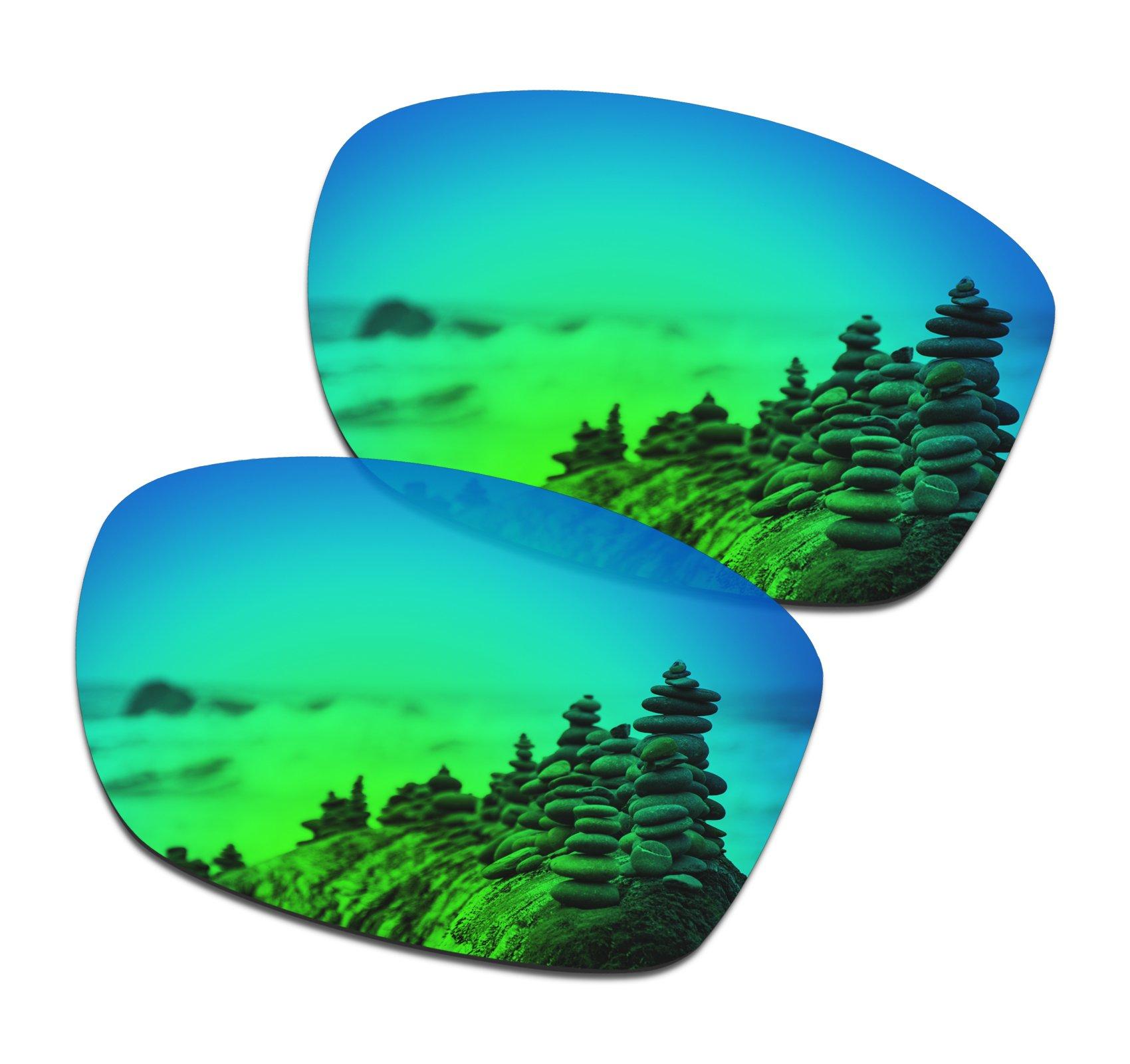 738dad42669 SmartVLT Men s Emerald Green Replacement Lenses for Oakley Jupiter Squared  Sunglass