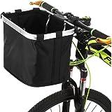 Lixada Bicycle Front Basket Folding Removable Bike Handlebar Basket Pet Cat Dog Carrier Frame Bag(Optional)