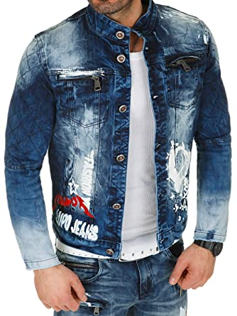 1d0a243afb37 Kosmo Lupo Herren Jeansjacke Jeans Jacke Denim  Amazon.de  Bekleidung