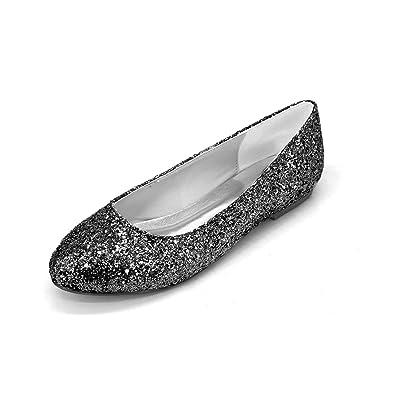 Amazon Com L Yc Women S Flat Shoes Leather Wedding Evening Satin