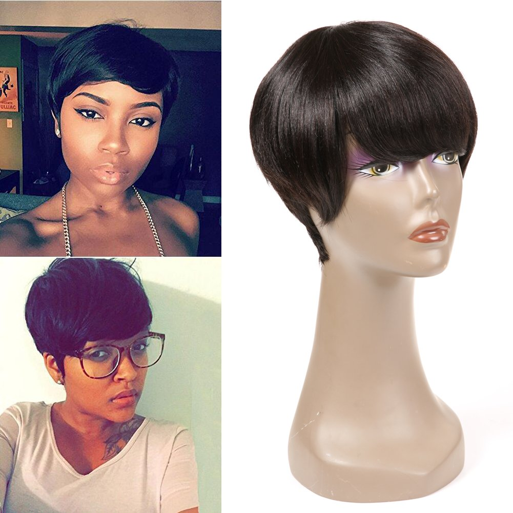 Human Hair Wigs for Black Women Short Bob Wig None Front Lace Wigs Nico