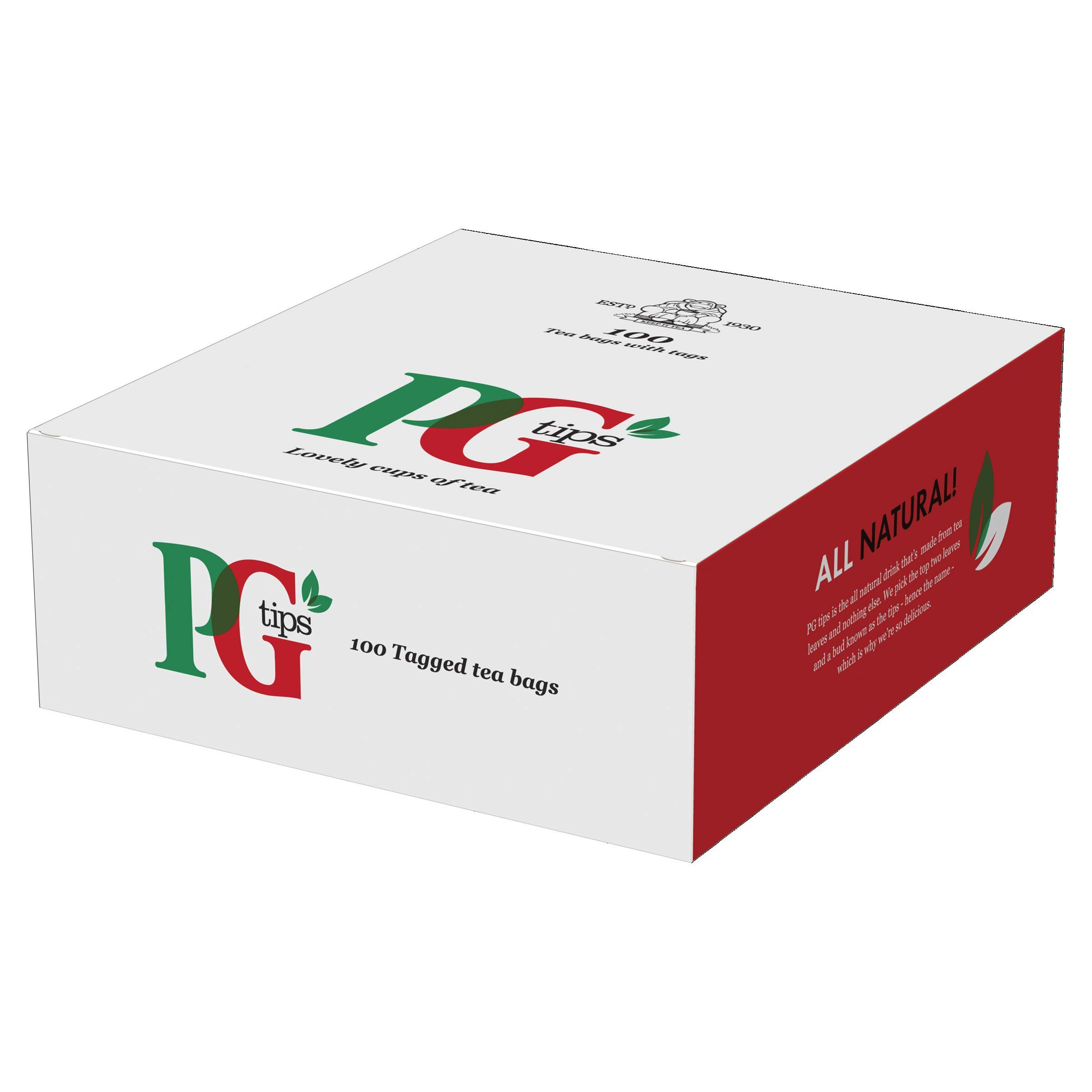 PG tips String and Tag One Cup Everyday Tea Bags (Pack of 100)